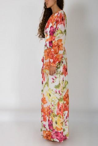 FLOWER PRINT LONG DRESS