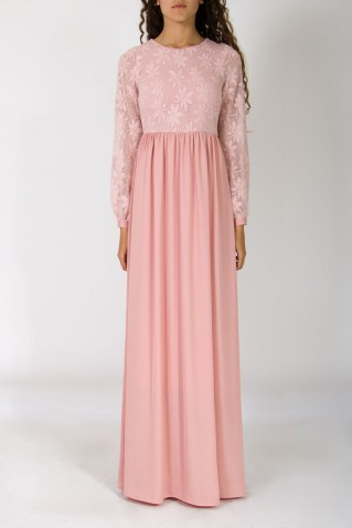 JACQUARD JERSEY TOP LONG DRESS