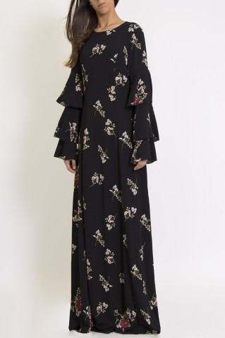 RUFLE MAXI DRESS