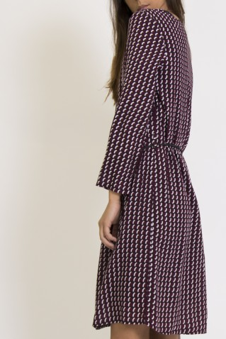 ALL OVER PRINT VISCOSE DRESS