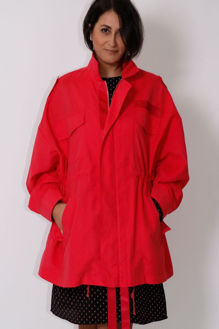 PARKA OVER SIZE C/FITAS