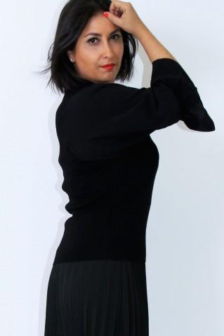 CAMISOLA MALHA TRICOT MANGAS TECIDO