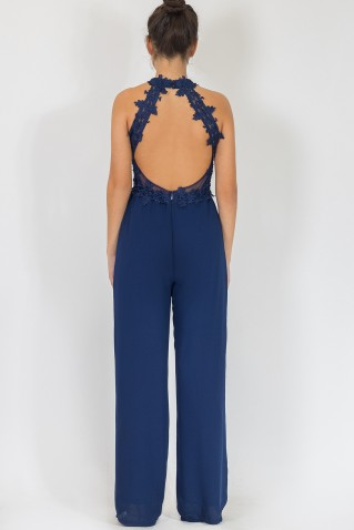 LACE CHEST JUMPSUIT