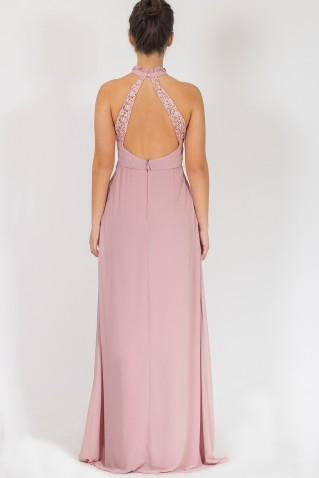 PLEATED CHEST MAXI DRESS