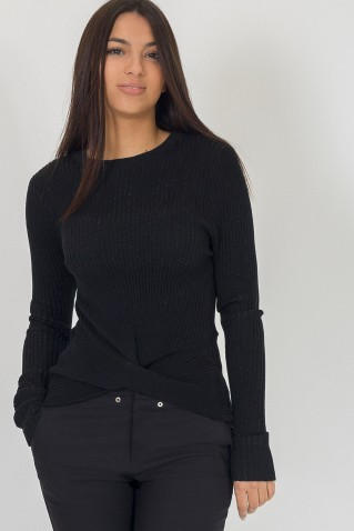 KNITTED LUREX SWEATER
