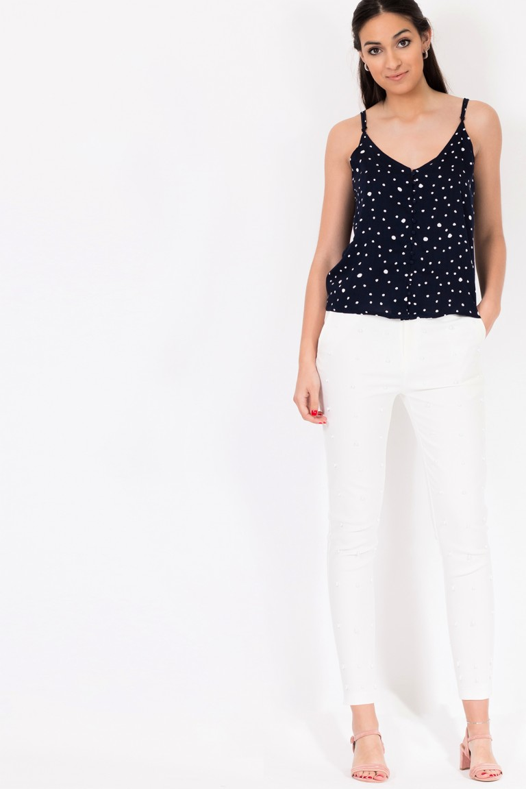 POLKA DOTS PRINTED TOP