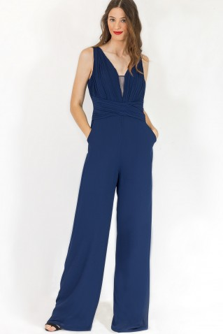 PLEATED CHEST JUMPSUIT